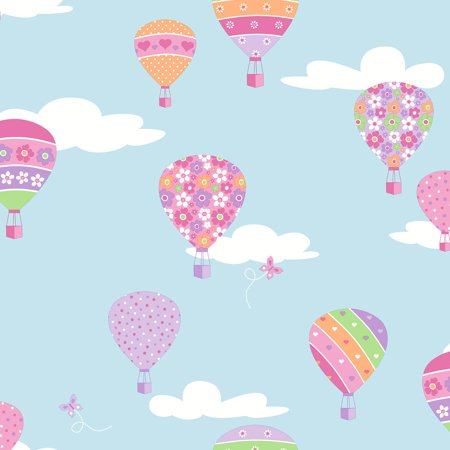 Air balloon wallpaer clipart clip transparent library Brewster Hot Air Balloons Blue Balloons Wallpaper clip transparent library