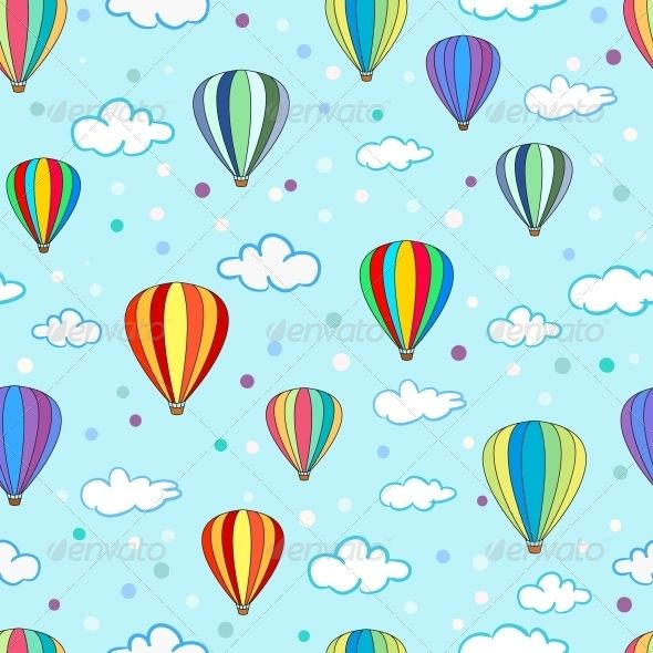 Air balloon wallpaer clipart clip transparent download Seamless Hot Air Balloon Pattern | Home Ideas | Hot air balloon ... clip transparent download