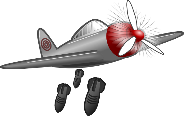Air bomb clipart banner free Air Attack Clip Art at Clker.com - vector clip art online, royalty ... banner free