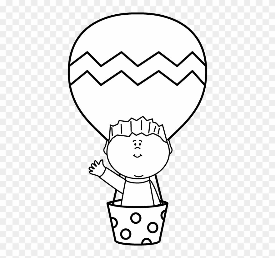 Air clipart black and white jpg freeuse Black And White Boy In A Hot Air Balloon - Hot Air Balloon Black And ... jpg freeuse