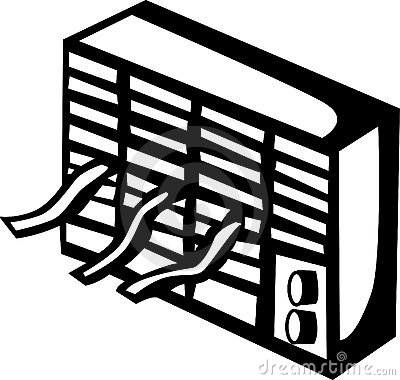 Air condition clipart image library stock Air conditioner clipart black and white 8 » Clipart Station image library stock