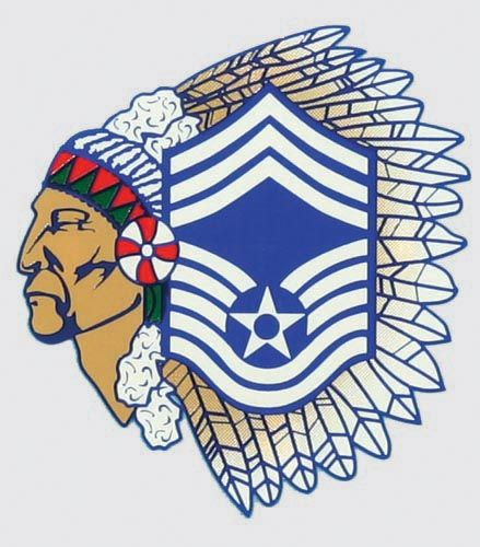 Air force e9 clipart black and white clip freeuse MSGT Air Force Chief (Indian Head) Decal MSGT Air Force Chief ... clip freeuse