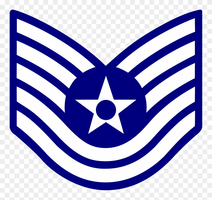 Air force ranks clipart picture free E6 Usaf Tsgt - Air Force Staff Sergeant Rank Clipart (#3207131 ... picture free