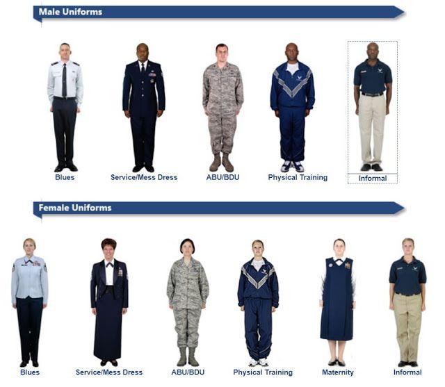 Air force nurse uniform clipart