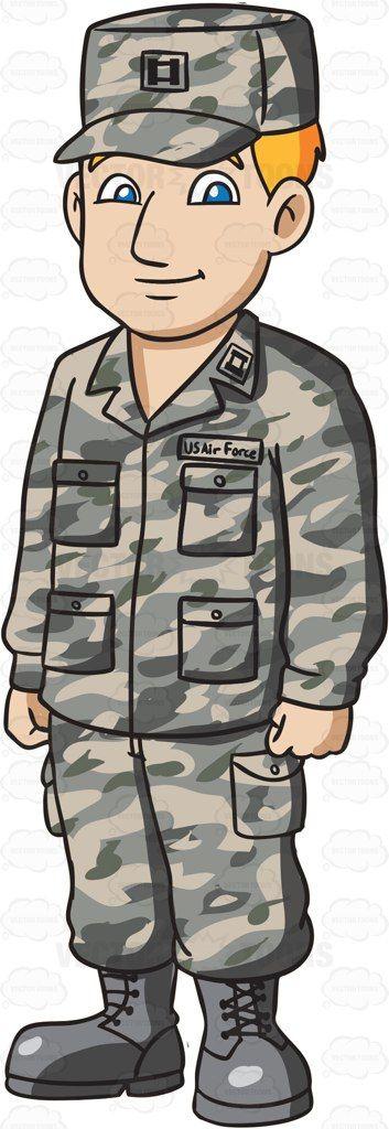 Air force nurse uniform clipart clipart free library A Man Dressed In US Air Force Airman Battle Uniform #cartoon ... clipart free library