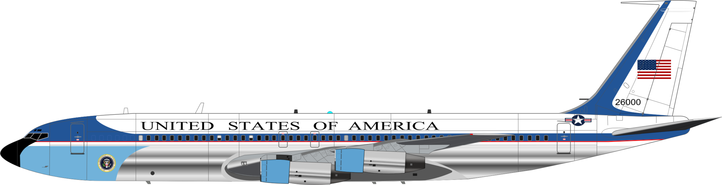 Air force one cliparts image download Boeing C 32,Narrow Body Aircraft,Aerospace Manufacturer Vector ... image download