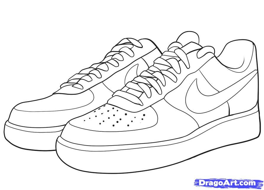 Air force one cliparts vector free stock air jordan shoe clipart - Google Search | Brands | Shoes clipart ... vector free stock