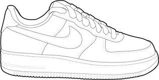 Air force one cliparts freeuse Image result for air force one shoe clip art | sneaker templates in ... freeuse