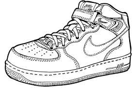 Air force one cliparts clipart black and white Image result for air force one shoe clip art | sneaker templates ... clipart black and white