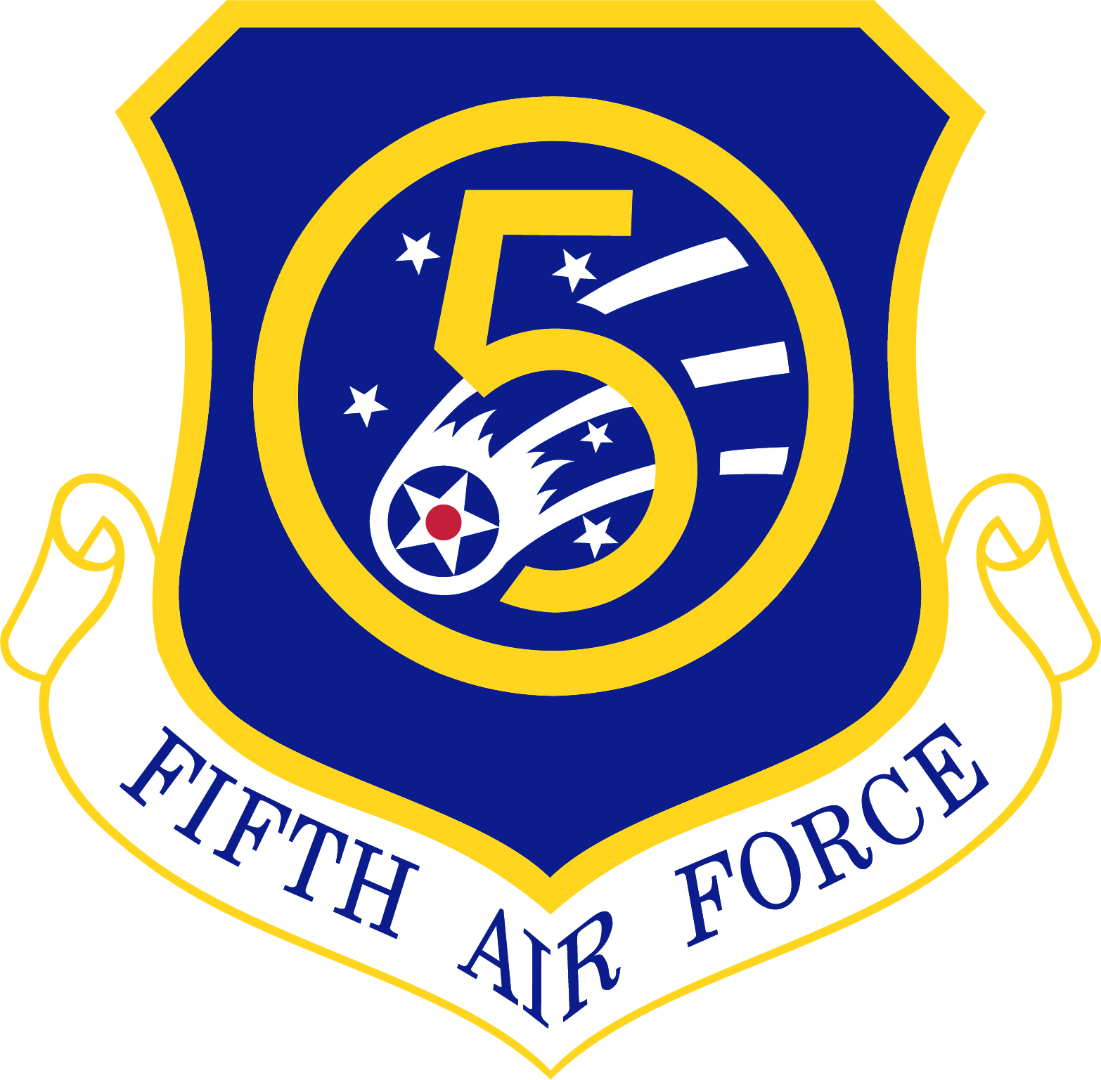 Air force patch clipart black and white banner transparent download Fifth Air Force - Wikipedia banner transparent download