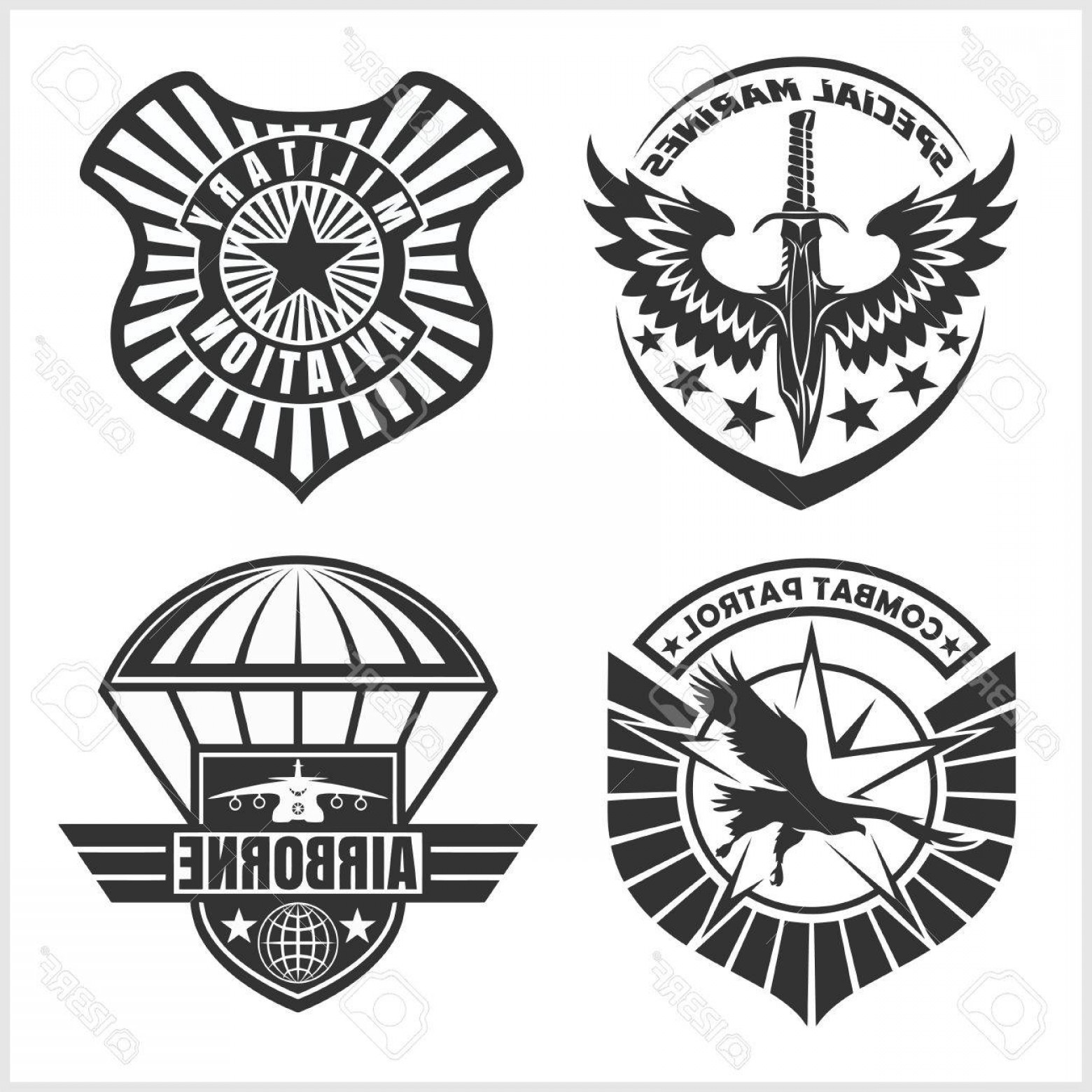 Air force patch clipart black and white svg black and white Air Force Logo Vector Art | SOIDERGI svg black and white