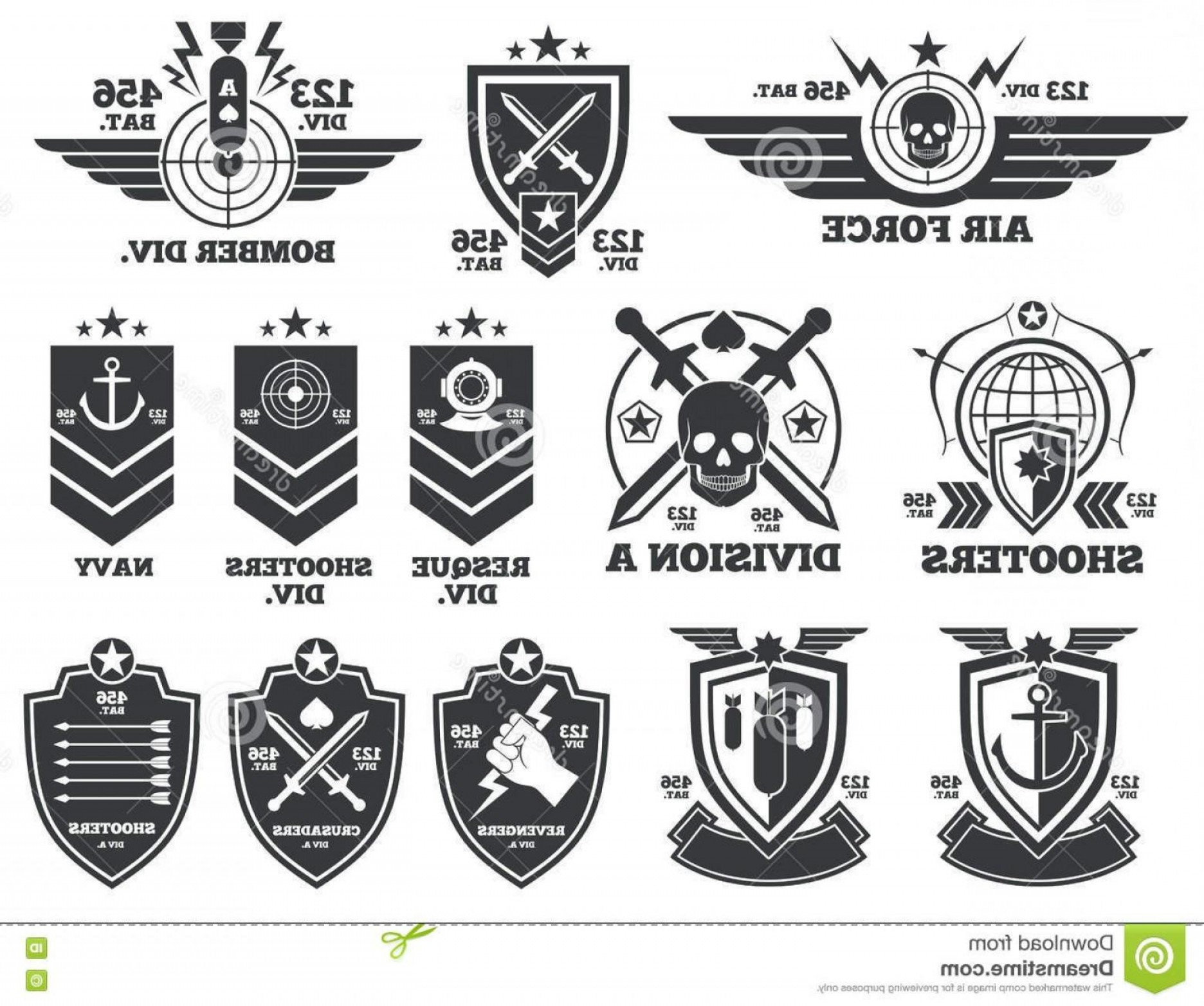 Air force patch clipart black and white clipart royalty free library Best Easy Military Logos Vector Army Navy Air Force Marines Coast ... clipart royalty free library