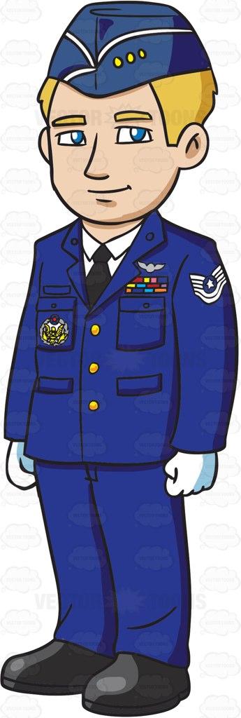 Airman clipart vector stock Air Force Man Clipart vector stock