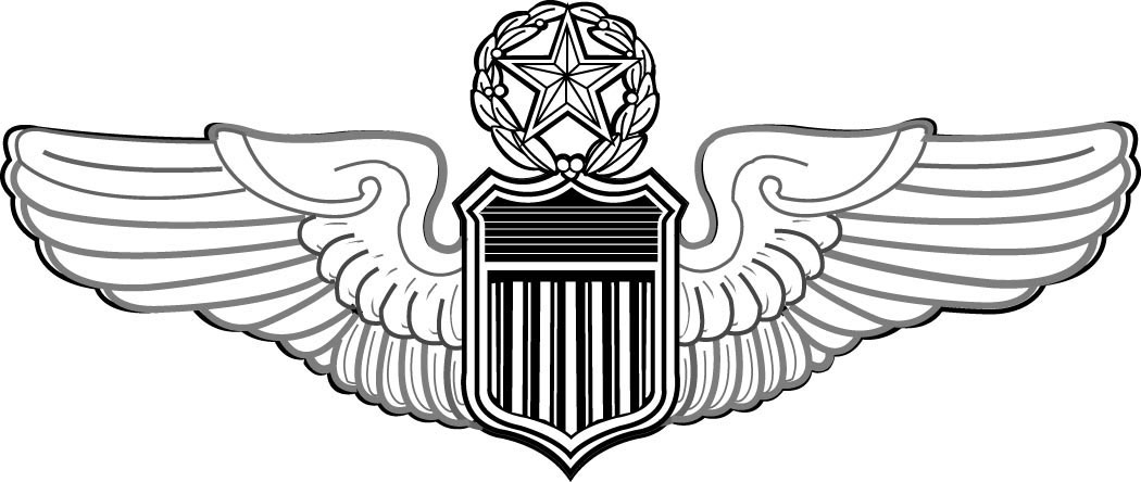 Delta pilot wings clipart bw svg library stock U.S. Air Force aeronautical rating - Wikipedia svg library stock