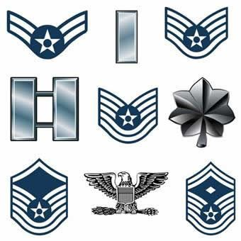 Air force ranks clipart jpg black and white library US Air Force Rank | military rank structure charts | Air force ... jpg black and white library
