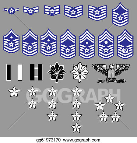 Air force ranks clipart vector royalty free library EPS Vector - Us air force rank insignia. Stock Clipart Illustration ... vector royalty free library