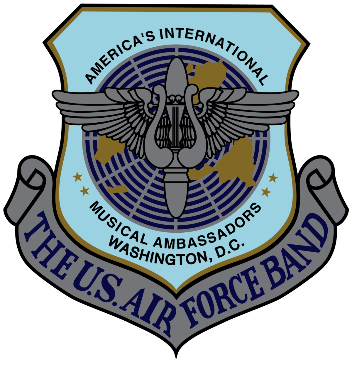 Air force star clipart banner black and white download United States Air Force Band - Wikipedia banner black and white download