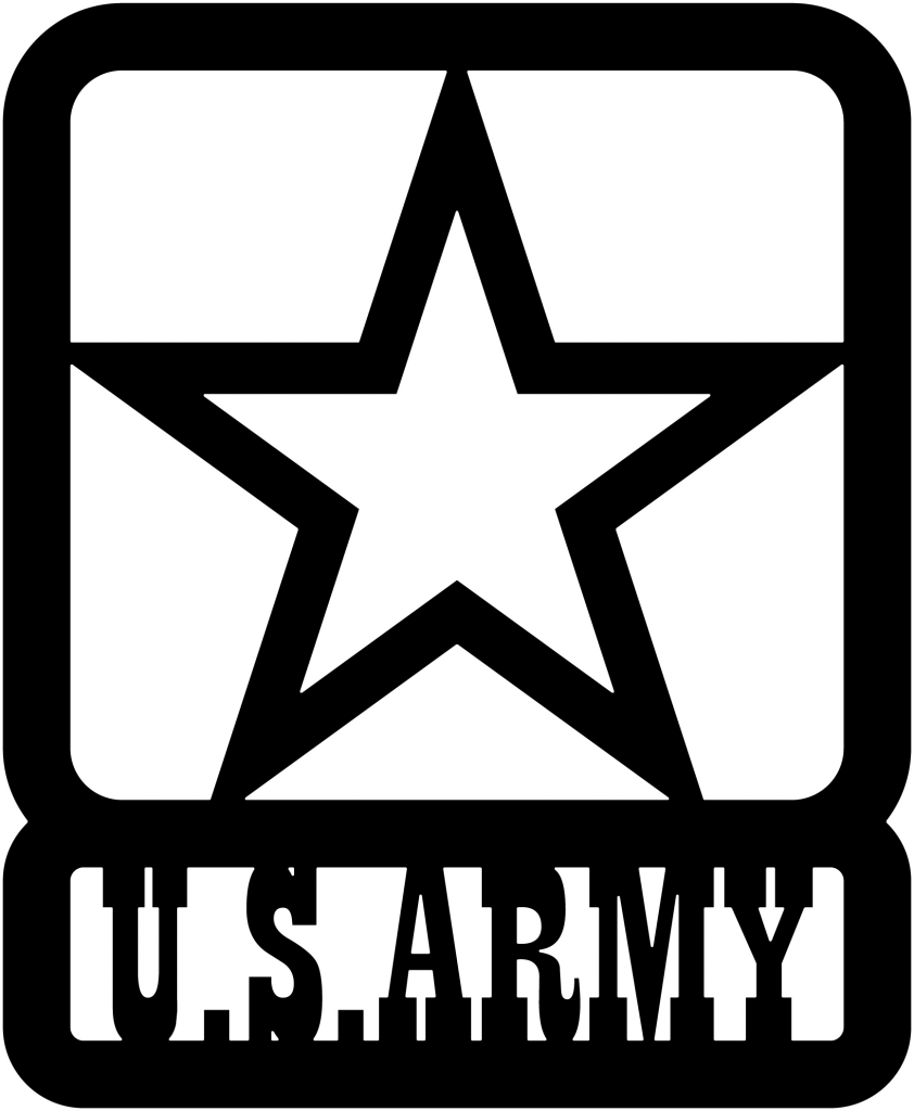 Army star clipart png black and white download US ARMY Star DXF File | DXFforCNC.com - DXF files Cut Ready CNC ... png black and white download