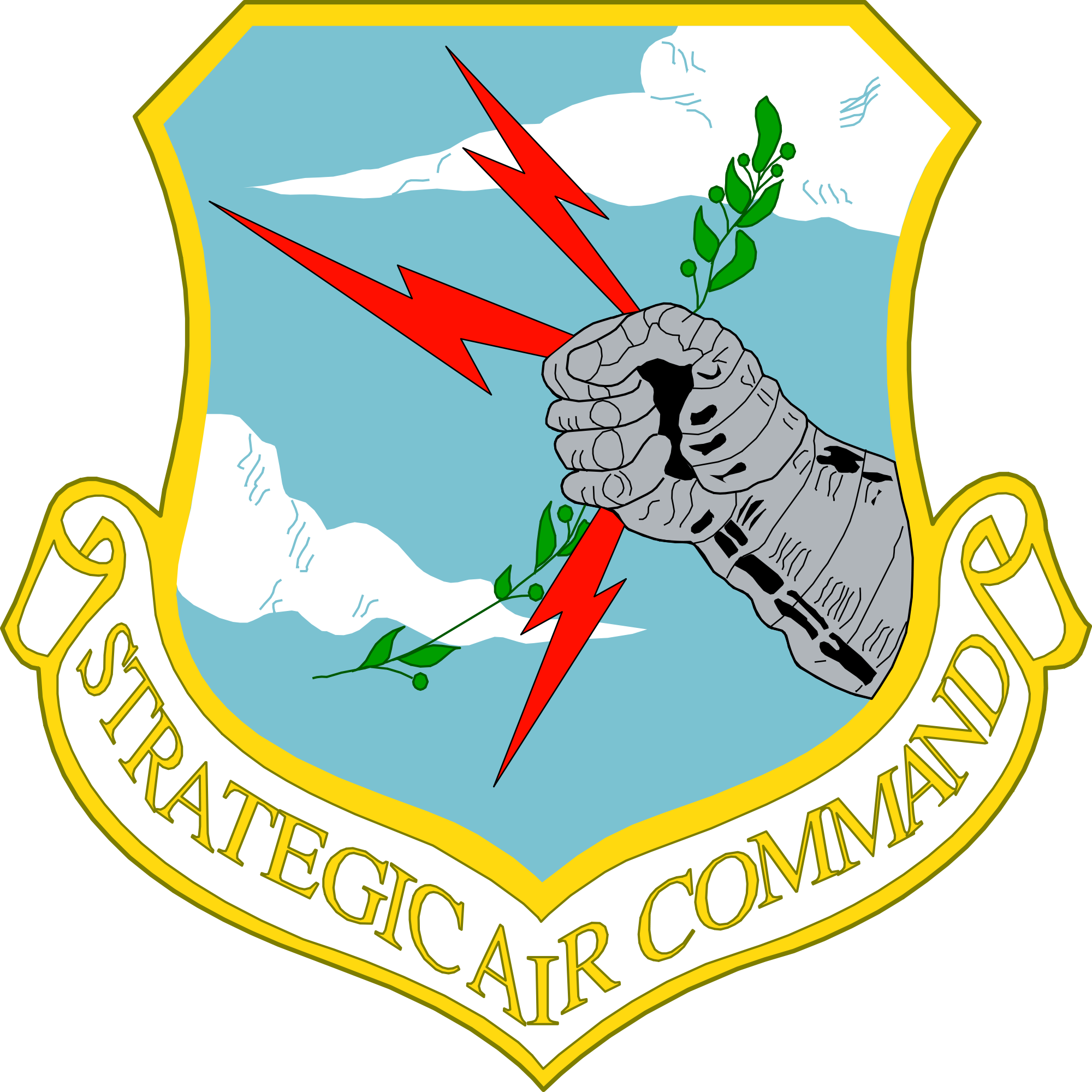 Air force star clipart jpg library library File:SAC Shield.svg - Wikimedia Commons jpg library library