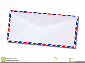 Air mail clipart free vector library library Air Mail Envelope Clipart | Free Images at Clker.com - vector clip ... vector library library