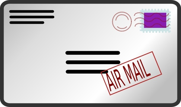 Air mail clipart free banner transparent download Air Mail Envelope clip art Free vector in Open office drawing svg ... banner transparent download
