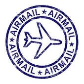 Air mail clipart free vector royalty free download Mail Clip Art Too Much | Airmail Stamp Shows International Mail ... vector royalty free download