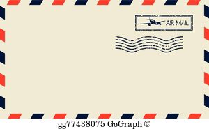 Air mail clipart free image free download Airmail Clip Art - Royalty Free - GoGraph image free download