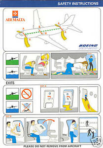 Air malta logo clipart graphic freeuse stock Details about Safety Card - Air Malta - Boeing 737 200 (S1722) graphic freeuse stock