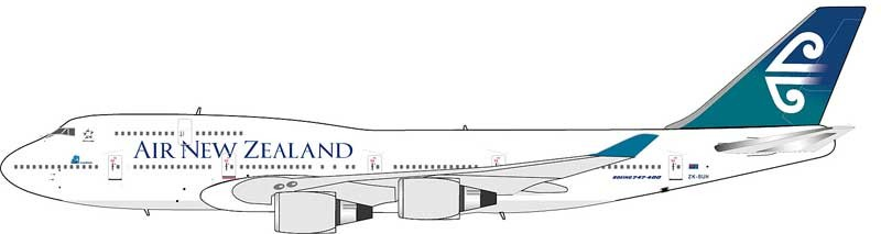 Air new zealand clipart png library library Air New Zealand 747-400 Reg# ZK-SUH InFlight, IF7441113, 1:200 png library library