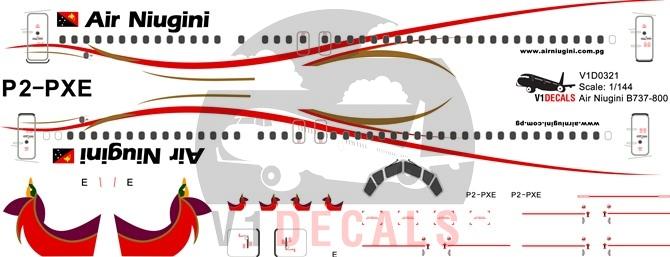 Air niugini clipart job vacancies graphic free Air Niugini Boeing 737-800 | V1 Decals graphic free