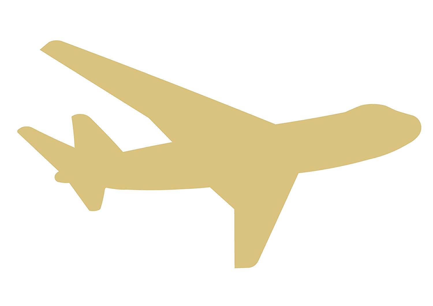 Air plane cut out clipart vector freeuse stock Amazon.com: Airplane Cutout Unfinished Wood Boeing Airbus Jet ... vector freeuse stock