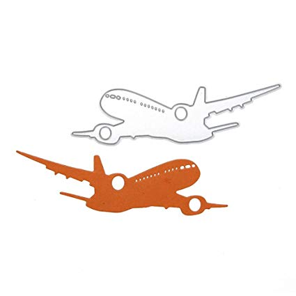 Air plane cut out clipart image Die Cut Dies - Airplane Stencil Metal Cutting Dies Photo Album Decoration  Embossing Template Paper Card Craft - And Owls Ship Bd82h57 Forewan Ting ... image
