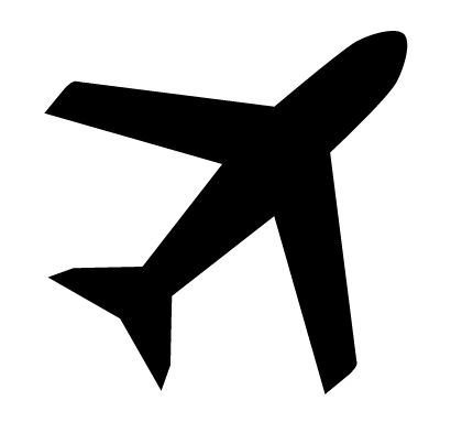 Air plane cut out clipart vector black and white library Can I take my knitting needles on a plane?   Wool and the Gang Blog ... vector black and white library