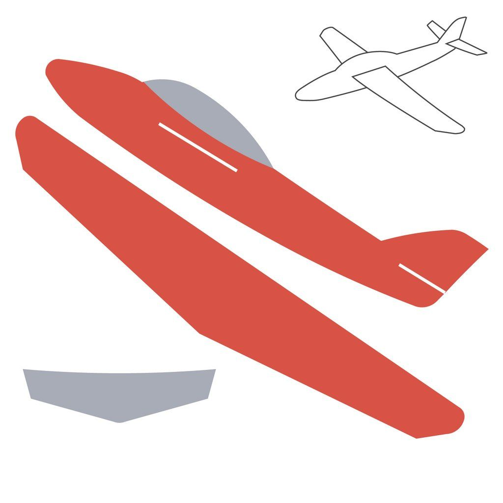 Air plane cut out clipart png library Airplane (3-D)   stuff   Pinterest   Airplane, Airplane crafts and ... png library