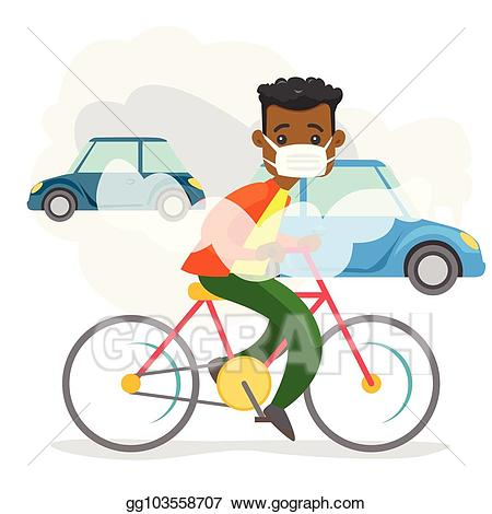 Air pollution clipart cars image library stock Vector Illustration - Air pollution caused by co2 emissions from ... image library stock
