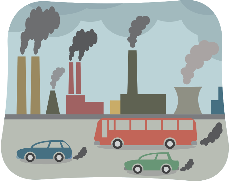 Air pollution clipart cars freeuse download What Causes Air Pollution? | NASA Climate Kids freeuse download