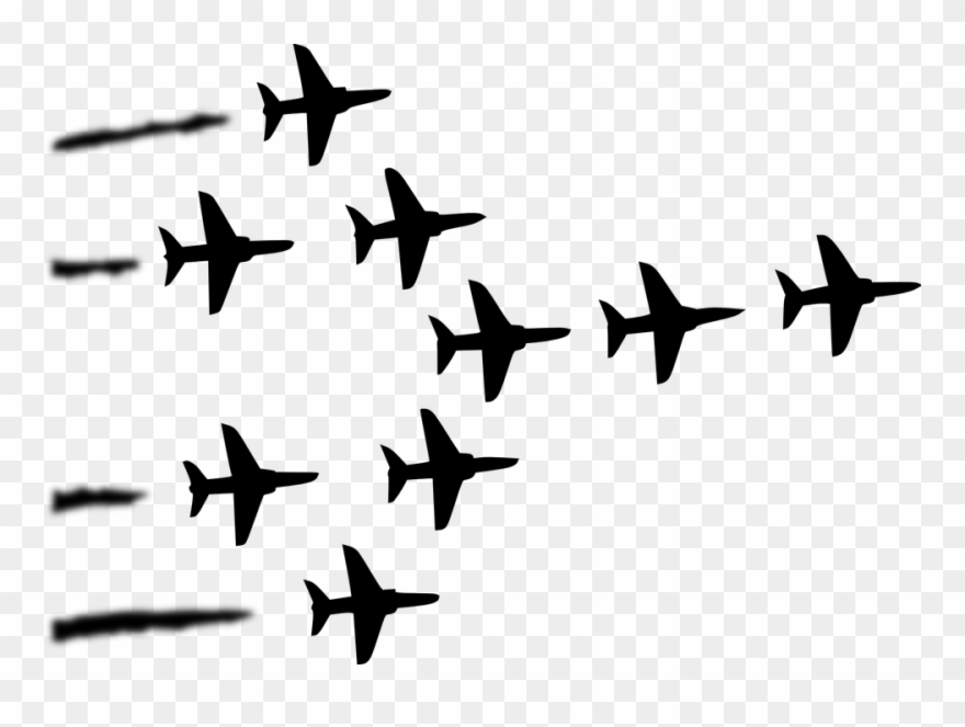 Air show clipart clip art library download Hd Clipart Plane Military Formation Air Show - Red Arrows - Png ... clip art library download