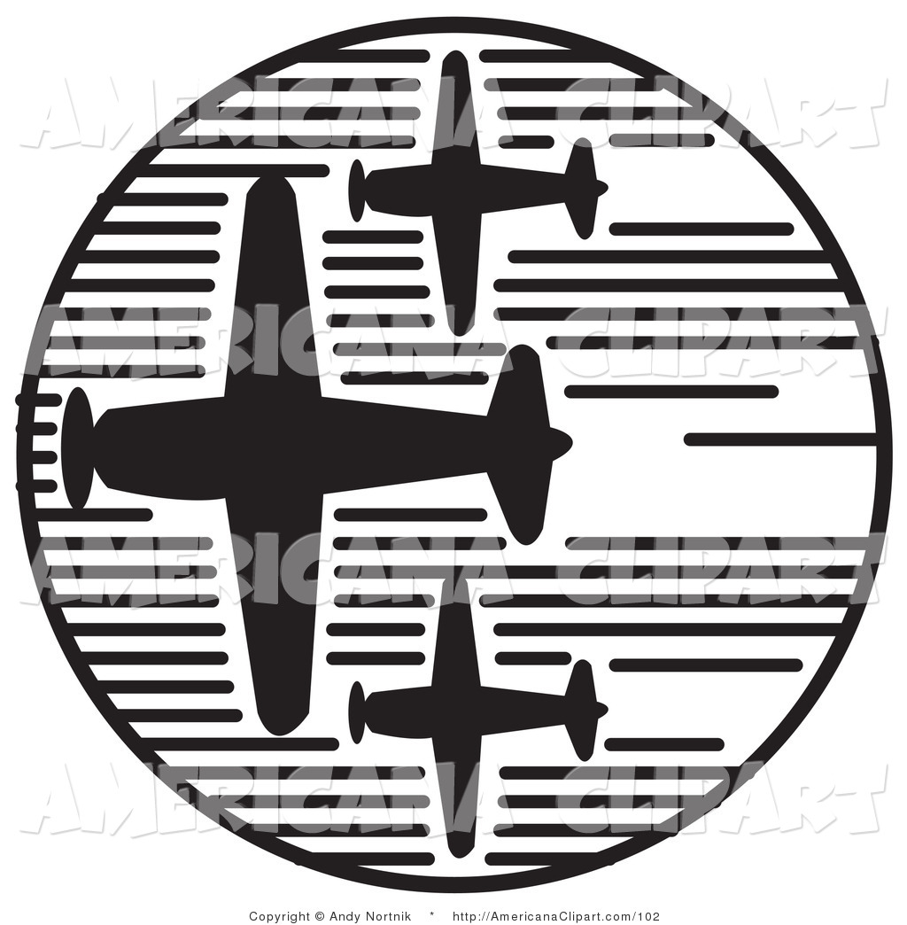 Air show clipart picture free Americana Vector Clip Art of Three Propeller Airplanes Speeding ... picture free