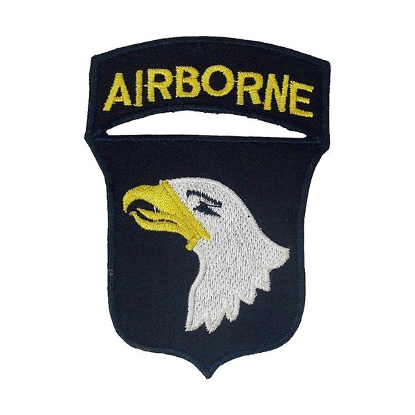 Airborne military patch clipart svg freeuse stock 101st Airborne Patch - 2.5 x 3.5 inch - Army Iron on Embroidery Patch by  Mr. Patches svg freeuse stock