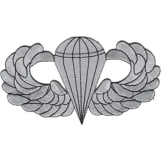 Airborne military patch clipart clipart freeuse download Airborne Basic Jump Wings Badge Patch clipart freeuse download