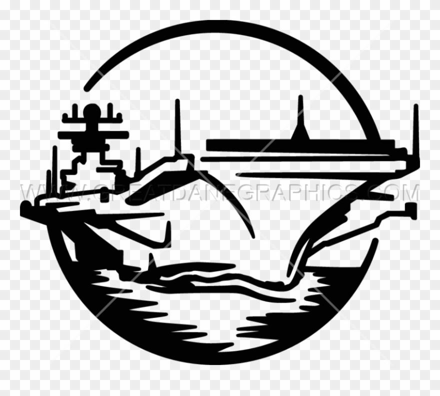 Aircraft carrier silhouette clipart jpg free Aircraft Carrier Clipart New - Black And White Military Clipart ... jpg free
