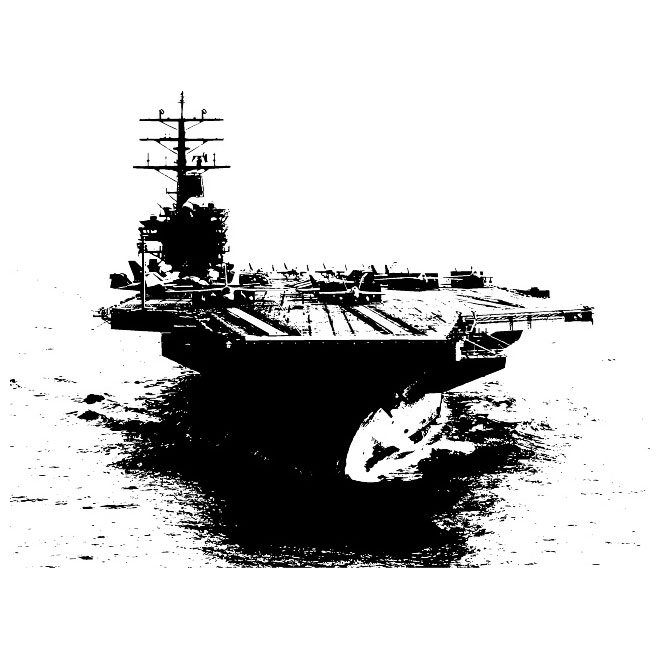 Aircraft carrier silhouette clipart clip art library library Aircraft carrier vector - Free vector image in AI and EPS format. clip art library library