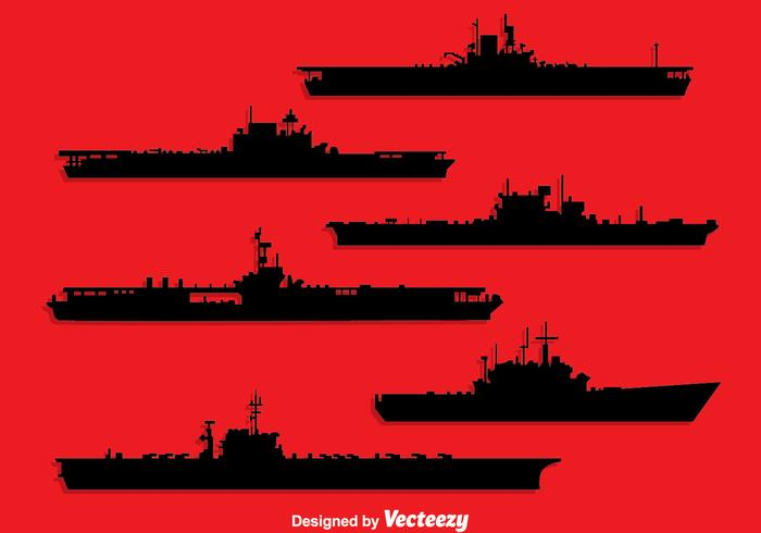 Aircraft carrier silhouette clipart png library stock Aircraft Carrier Free Vector Art - (4,440 Free Downloads) png library stock