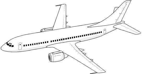 Airplane clipart free jpg download Airplane Clip Art Free | Clipart | Airplane coloring pages, Coloring ... jpg download