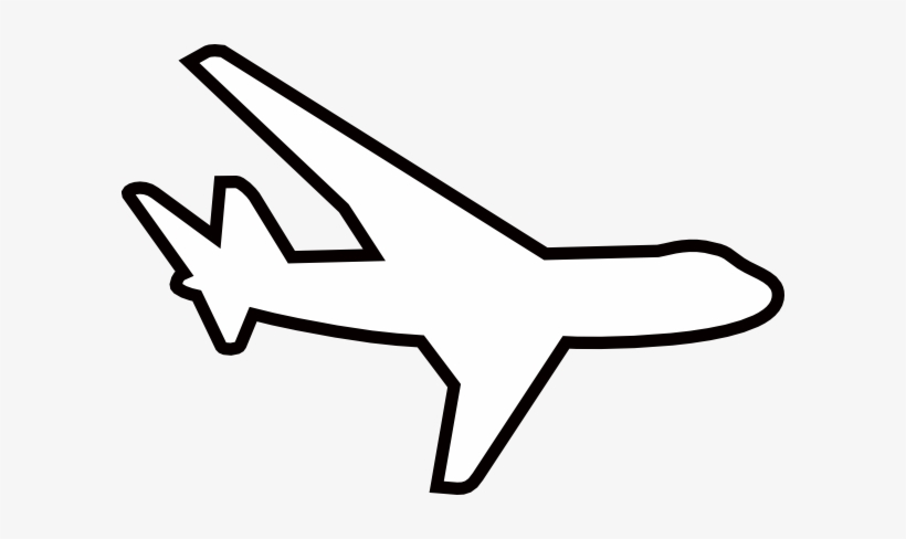 Aircraft outline clipart black and white library Airplane Outline - White Plane Clip Art - Free Transparent PNG ... black and white library