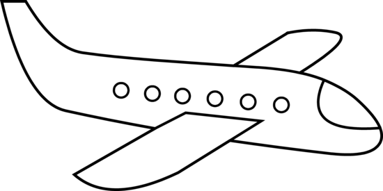 Airplane line clipart