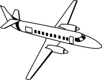Clipart black and white airplane