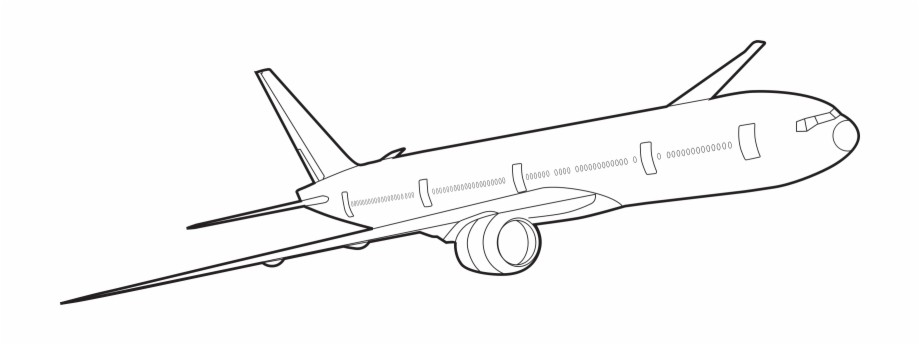 Aircraft outline clipart banner stock Boeing Airplane Clipart - Plane Outlines Free PNG Images & Clipart ... banner stock