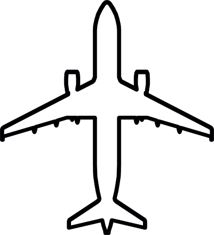 Aircraft outline clipart png transparent download Plane Outline Drawing | Free download best Plane Outline Drawing on ... png transparent download