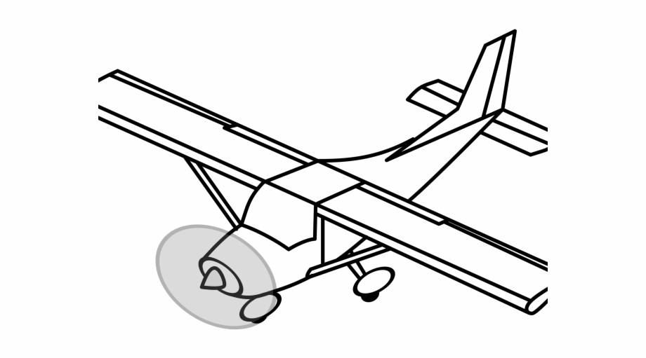 Aircraft propeller clipart clip art black and white Pilot Clipart Propeller Plane - Step By Step Drawings Planes ... clip art black and white